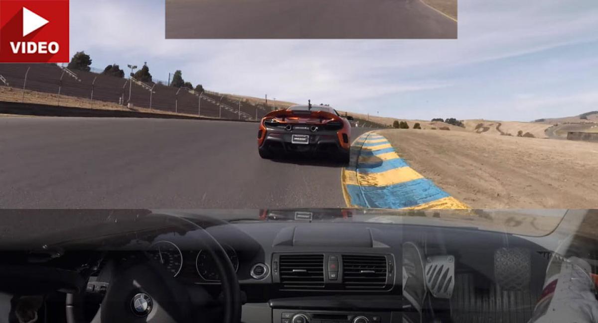 McLaren δεν αφήνει BMW να περάσει (vid)