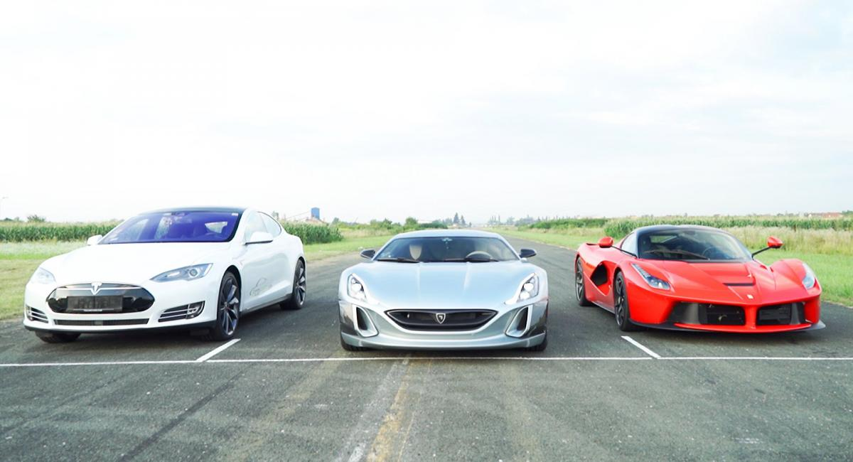 To Rimac Concept One ξεφτιλίζει LaFerrari και Tesla Model S