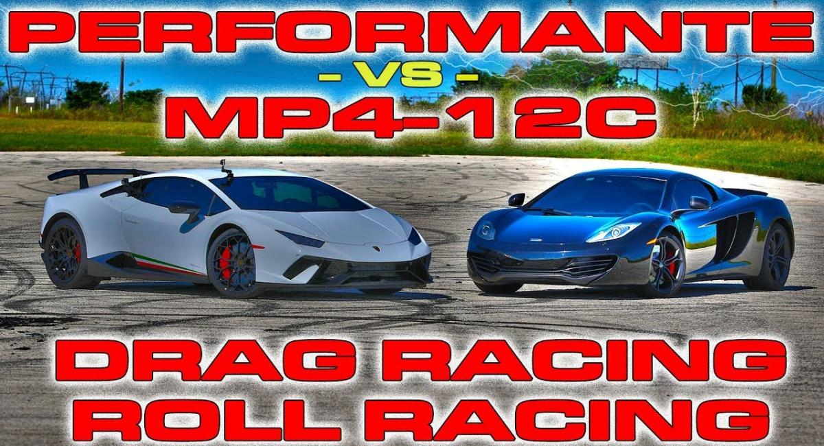 Lamborghini Huracan Performante vs McLaren MP4-12