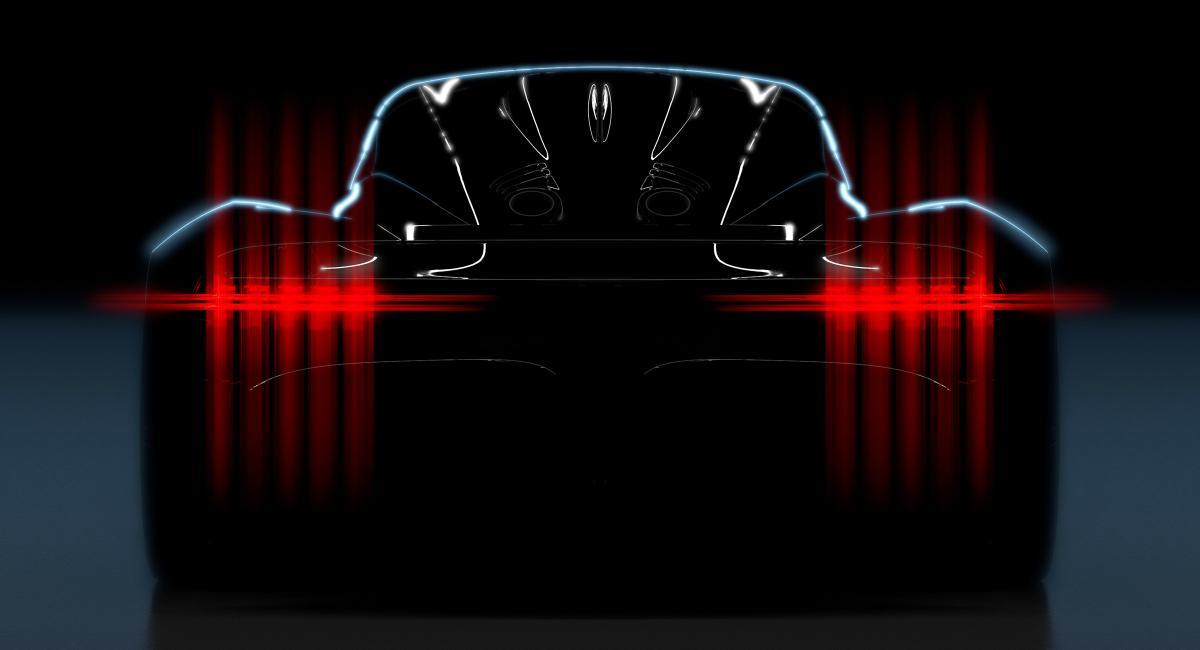 Το πρώτο teaser του νέου κεντρομήχανου hypercar της Aston Martin