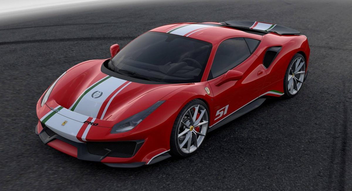 Νέα Ferrari 488 GTB Pista Piloti σε τέσσερις χρωματισμούς
