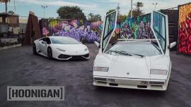 Lamborghini Huracan 1.100 ίππων Vs Lamborghini Countach [Vid]