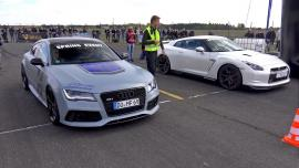 Audi RS7 Sportback 750 hp vs Nissan GT-R R35 Switzer P800 1050 hp [Vid]