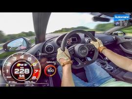 284 χλμ/ώρα με ένα Audi RS3 Sedan [Vid]