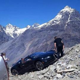Μια Bugatti Veyron τράκαρε στις πλαγιές των Άνδεων