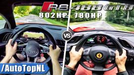 Audi R8 V10 Plus vs Ferrari 488 GTB στα 0-300 χλμ/ώρα [Vid]