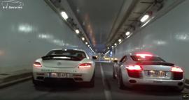 Mercedes SLS AMG και Audi R8 κοντράρονται μέσα από εξατμίσεις της Akrapovic