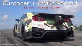 Nissan GT-R 1.700 ίππων κάνει ευρωπαϊκό ρεκόρ στο μισό μίλι [Vid]