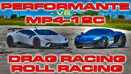 Lamborghini Huracan Performante vs McLaren MP4-12