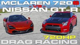 McLaren 720S vs Nissan GT-R 720 ίππων [Vid]