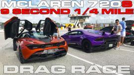 McLaren 720S vs Lamborghini Huracan Performante στο 400άρι [Vid]