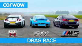 Nissan GT-R vs Porsche 911 Turbo S vs BMW M5 Competition