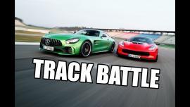 Chevrolet Corvette Z06 vs Mercedes-AMG GT R σε πίστα [Vid]