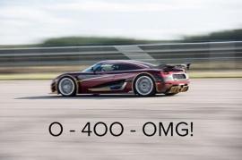 H Koenigsegg teasarei rekor sta 0-400-0 xlm/wra
