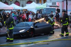Μια Lamborghini Huracan Performante πήρε φωτιά στη Βοστώνη [Vid]