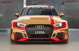 Η Audi παραδίδει το 100ο RS3 LMS σε χρυσό χρώμα