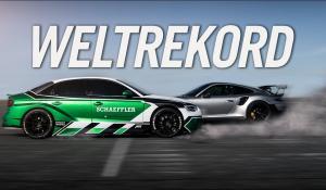 Ηλεκτρικό Audi RS3 πηγαίνει με την όπισθεν και κοντράρεται με μία 911 GT2 RS