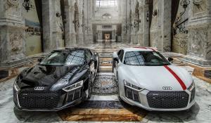 Δύο Audi R8 μέσα σε κτίριο αξίας ενός δις $ [Vid]