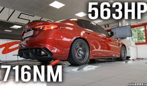 Βελτιωμένη Alfa Romeo Giulia Quadrifoglio στα 563 άλογα δοκιμάζεται στο δυναμόμετρο [Vid]