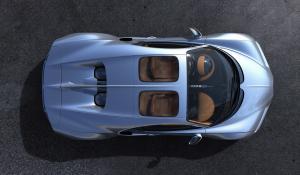 Bugatti Chiron με γυάλινη οροφή