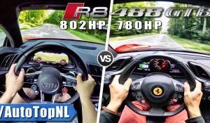 Audi R8 V10 Plus vs Ferrari 488 GTB στα 0-300 χλμ/ώρα [Vid]
