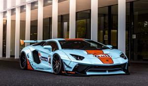 Lamborghini Aventador της Liberty Walk στα χρώματα της Gulf