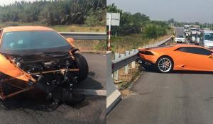 Lamborghini Huracan τρακάρει άσχημα στο Βιετνάμ