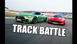 Chevrolet Corvette Z06 vs Mercedes-AMG GT R σε πίστα [Vid]