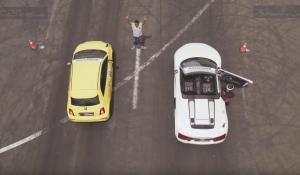 Abarth 595 Competizione vs Audi R8 V10 Spyder στην ευθεία [Vid]